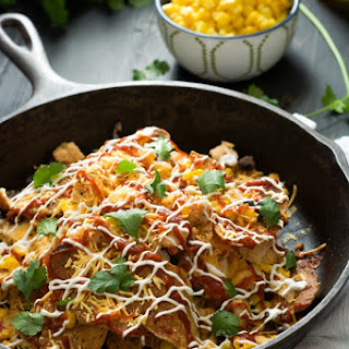 BBQ Chicken Sweet Potato Nachos