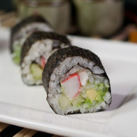 Avocado And Crab-Meat Sushi