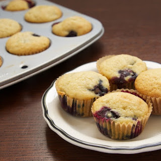 Blueberry Sour Cream Mini Muffins