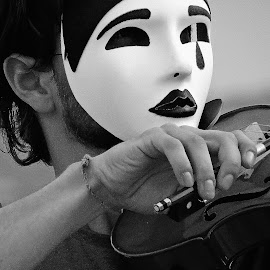 The mask by Ligia Bento - People Musicians & Entertainers ( violin, mask, musician, violinist,  )