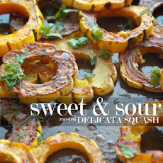 Sweet & Sour Roasted Delicata Squash