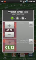 Screenshot of Widget Timer