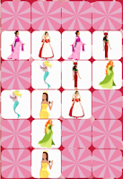 Screenshot of Princess Match Memory Game