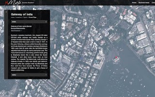 Screenshot of Mumbai on an Interactive Map