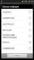 Screenshot of 2014 World Cup Live Wallpaper