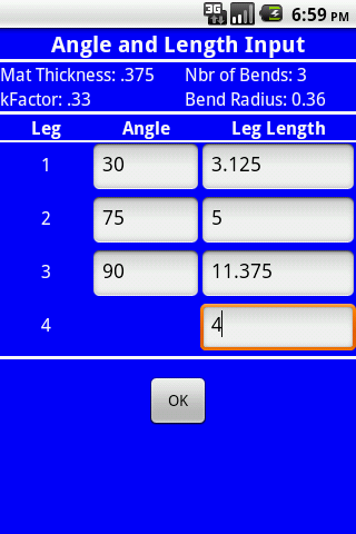 Bend Line Calculator