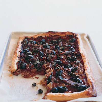 Onion, Anchovy And Olive Tart