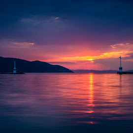 Limenas Port, Thassos by Cosmin Stahie - Landscapes Travel ( thassos, sunset, greece, sea, travel, limenas, aegean, island )