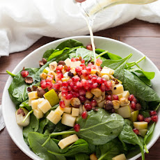 PEAR, GOUDA & HAZELNUT SPINACH SALAD
