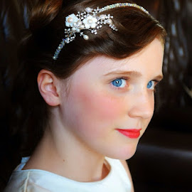Beautiful darling by Tanya Couchman - Wedding Getting Ready ( vintage, blue eyes, smile )