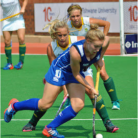 3 in a row by Johann Perie - Sports & Fitness Other Sports ( girls, hockey, sports )