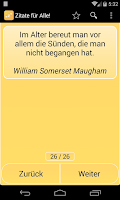 Screenshot of Zitate für Alle