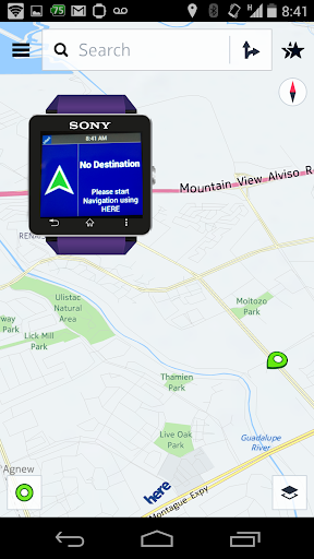 Smart H Navi for SmartWatch 2 - screenshot