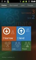 Screenshot of LendMate IOU (I owe you)