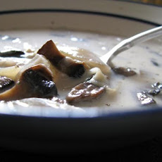 Slow Cooker/ Crock Pot Cream of Portabella Barley Soup