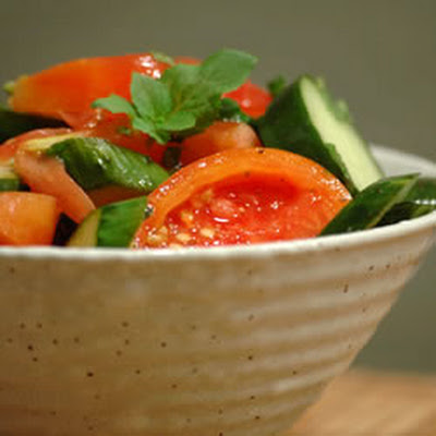 Tomato Cucumber Salad with Mint