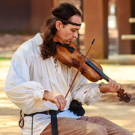 Violin Player by Carol Plummer - News & Events Entertainment ( renaissance, person, violin, event, entertainment, man,  )