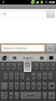Screenshot of GOKeyboard Polishedstone theme