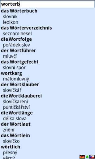 LIVE Dictionary Czech-German