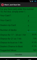 Screenshot of Black Jack Calculator
