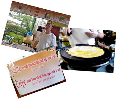 french crepe and galette with stall owner