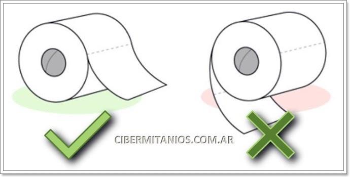 Carvajablog la forma correcta de poner el papel higi nico - Como se pone el papel pintado ...