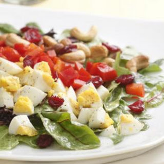 Curried Salad with Egg & Cashews
