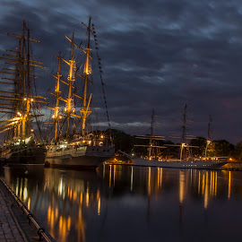 The Tall Ships Races Fredrikstad 2014#Norway by Øyvind Edvardsen - City,  Street & Park  Night