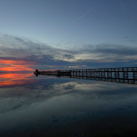 The rocket by Kim  Schou - Landscapes Waterscapes ( hestehovedet, hdr, sunset, jetty, nakskov )