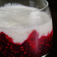 Marbled Berry Panna Cotta