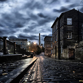 Saltaire by Andrew Holland - City,  Street & Park  Street Scenes