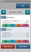 Screenshot of Carbs & Cals - Diabetes & Diet