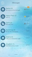 Screenshot of GO SMS PRO WATER THEME