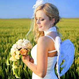 Angel... by Fotograf Weronika Kunek - Wedding Bride ( Wedding, Weddings, Marriage,  )