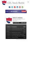 Screenshot of CDL Study Buddy