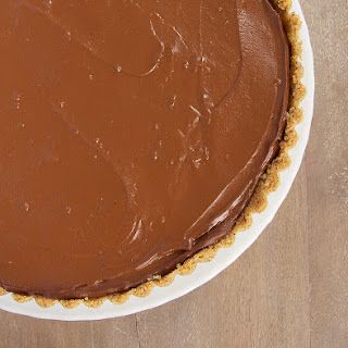 Chocolate Pudding Pie with Peanut Butter Filling
