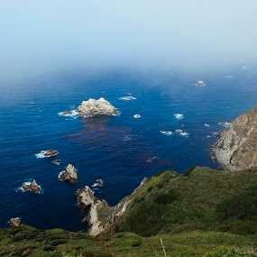 Edge of the Earth by Andrew Ng - Landscapes Waterscapes ( clouds, cliffs, road trip, california, pacific ocean, highway 1, pacific coast highway, mist )