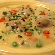 Youvarlakia Avgolemono (Greek Meatball-Egg/Lemon Soup)