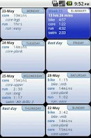 Screenshot of Triathlete's Training Diary