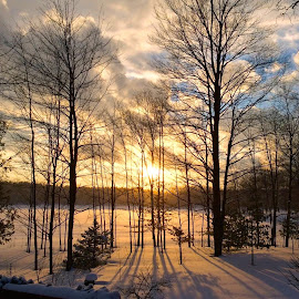 AFTER THE STORM by Gloria Straight - Landscapes Weather ( winter, sunset, snow, weather )