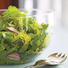 Arugula Salad with Radishes and Caper Vinaigrette