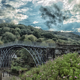 Thomas Telfords Iron Bridge by Dez Green - Buildings & Architecture Bridges & Suspended Structures ( bridge, first, telford, iron, historic )