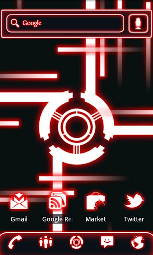 Glow Legacy Live Wallpaper Red