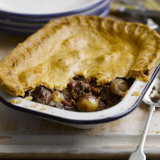 Shallot, Chunky Steak And Mushroom Pie