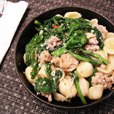 PASTA WITH SAUSAGE AND BROCCOLI RABE - from Italy