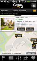 Screenshot of CENTURY 21 Real Estate Mobile