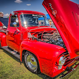 Ford Truck and Trailer by Ron Meyers - Transportation Automobiles