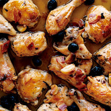 Roast Chicken with Pancetta and Olives Recipe