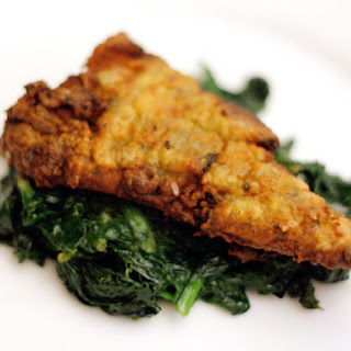Fish Fillets with Spicy Green Undercoat