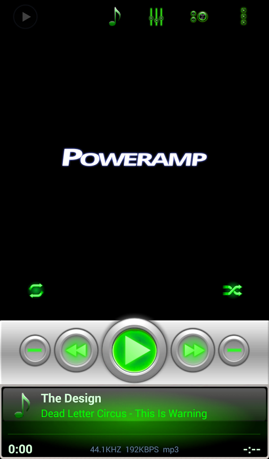 Mad Jelly Green Poweramp Skin Screenshot 3